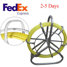 Fish Tape Fiberglass Reel Wire Cable Running Rod Duct Rodder Fishtape Puller 6mm