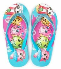 SHOPKINS APPLE BLOSSOM Girls Flip Flops Beach Sandals w/ Optional Sunglasses NWT