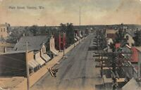 Tinted Postcard Main Street in Stanley, Wisconsin~122011