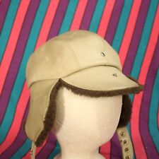 Vintage Aviator Trapper Hat Cap Leather The Arctic Trooper Sz Large Insulated