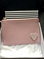 Lulu Guinness Leather Baby Pink Purse / Pouch Bn & Boxed