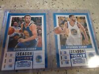2017 PANINI CONTENDERS DRAFT PICK STEPHEN CURRY BOTH VARIATIONS