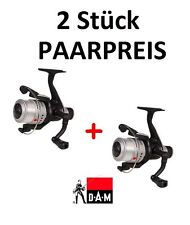 2x DAM Fighter Pro 140RD SET Heckbremsrolle + Schnur 0,33mm Angelrolle Paarpreis