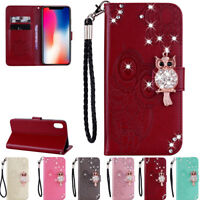 3D Owl Card Wallet Leather Flip Case Cover For iPhone 6 6S 7 8 Plus XR XS Max US