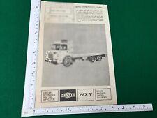 Dennis PAX V 6x2 lightweight 6 wheeler low loader 1963 magazine advert