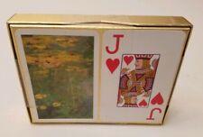 PIATNIK- MONET GALLERY LILIES PLAYING CARDS 2 NEW DECKS. MADE IN AUSTRIA