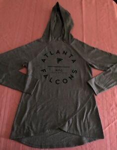 Atlanta Falcons Ladies Fashion Hoodie Medium Gray Sexy Ladies Cut NFL