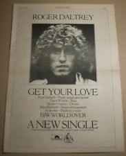 Roger Daltrey - Get Your Love - 1975 - NME press advert 16 X 11 INCH - The Who