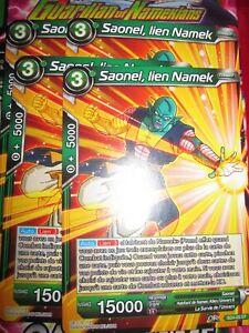 DRAGON BALL SUPER SAONEL LIEN NAMEK PLAYSET (LOT DE 4) SD4-05 ST FRENCH NEUF