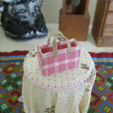 Dollhouse ARTISAN PINK PURSE Miniature Artist Wardrobe Doll Handbag Handmade
