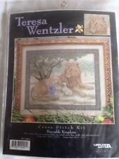 RARE Teresa Wentzler Peaceable Kingdom counted cross stitch kit, sealed