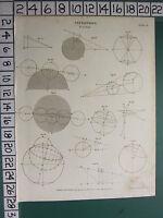 1809 Datato Antico Stampa ~Astronomia Eclipse~ Vari Diagrammi