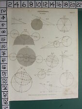 1809 DATED ANTIQUE PRINT ~ ASTRONOMY ECLIPSE ~ VARIOUS DIAGRAMS