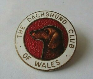 THE DACHSHUND CLUB OF WALES ENAMEL LAPEL  BADGE