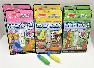 LOT of 6 - WATER WOW Water Reveal Pads by Melissa & Doug