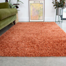 Non Shed Orange Shaggy Rug Small Large Living Room Rugs Soft Bedroom Carpet Rugs