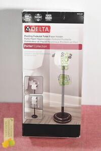 Delta Porter Telescoping Pivoting Free-Standing Toilet Paper Holder Bronze