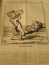 HD 3311 Caricature DAUMIER 1868 THE L PAD'BEAR