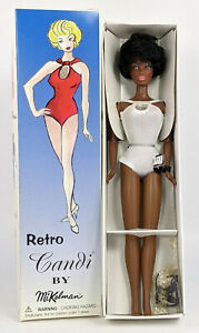 1997 Retro Candi by Mikelman Black Bubble Cut Candi Couture Doll, NEW Minty