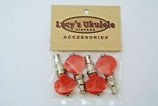 Lucy's Ukulele Vintage Style Color Friction Pegs Tuners Red Buttons