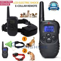 Dog Shock Training Collar 1000 Yards Remote Waterproof for Large Med Small Dogs