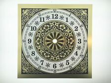 """Clock Dial Arabic Numerals Metal 7 7/8"""" Square with 6"""" Time Ring"""