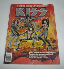 1977 comic magazine KISS Marvel Super Special #1 ~ Real KISS Blood w/ poster