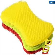 3 Colors Silicone Sponge Hygiene Hero Sponge Non-Stick for Kitchen Home.