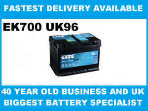 Exide EK700 096 AGM Car Van Battery 12V 70Ah 760A - Next Day Delivery