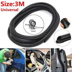 3 Meters 20mm Rubber Car Trunk/Door Edge Sealing Strip Trim Protector Universal