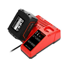 For Milwaukee M12&M18 Fast Li-ion Battery Packs Charger with LED Indicator