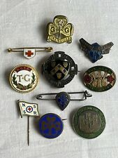 More details for original mixed enamel service badges for nursing guides and wi (x10)