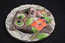 "Garden Outdoor Stepping Stone Rock Bless This Garden 7"" Hoot Owl #127"