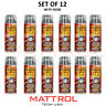 SET OF 12 AirForce Tire Inflator Tire Repair Scratch Dent 15oz Inflator Sealant