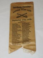 1st Connecticut Cavalry Ribbon- Battle Flag Day, September 17th 1879 Original