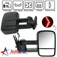 Power Led Signal Towing Mirrors Pair For 07-13 Chevy Silverado 1500/2500/2500Hd