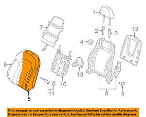 AUDI OEM 15-16 Q3 Front Seat-Cushion Cover-Top Back Left 8U0881805SIMZ