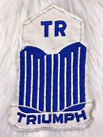 """Vintage 60s TRIUMPH TR Embroidered Sew On Patch British Auto Car Club Large 6.5"""""""