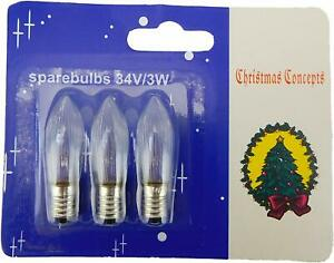 Pack Of 3 C6 Screw In Clear Normal Candle Bridge Bulbs (SB235A)