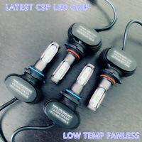 9005+9006 Combo Fanless CSP LED Headlight Kit High Low Beam Light Bulbs 6500K