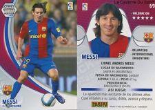 N°069 LIONEL MESSI # ARGENTINA FC.BARCELONA MEGACRACKS CARD PANINI LIGA 2008