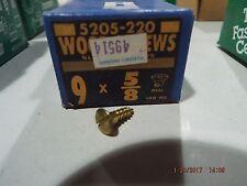 Brass Oval Head Slotted Wood Screws #9 x 5/8