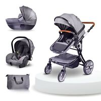3 in 1 Baby stroller infant carseat bassinet carriage carriola light weight