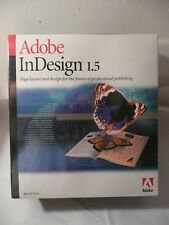 NEW SEALED ADOBE INDESIGN 1.5 PN 17510224 IDSN, 1.5, MACINTOSH, RET, UE, 1PK, CD