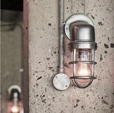 Mamparo de Lámpara de Pared Luz Vintage Industrial Jaula Con Vidrio-Gris 30 Cm Nuevo