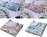 LUXURY CELINE QUILTED BEDSPREAD PACK & FITTED SHEETS 200 THREAD COTTON ALL SIZES