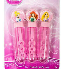 DISNEY PRINCESS BIRTHDAY PARTY FAVOURS BUBBLE TUBES (PACK OF 3)