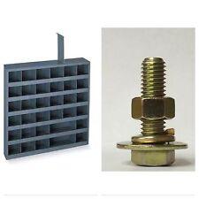 Grade 8 Bolts Nuts Flat Lock Washers Assortment Kit 1496 Pieces W/ BOLT BIN!