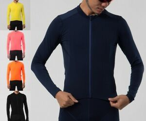 Unisex Pro Aero Thermal Fleece Cycling Jersey Long Sleeve Winter Brushing Inner