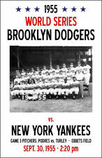 1955 BROOKLYN DODGERS NEW YORK YANKEES 8X10 POSTER PHOTO BASEBALL MLB PICTURE NY
